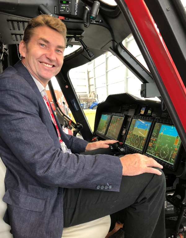 Brian Whittle MSP in the cockpit