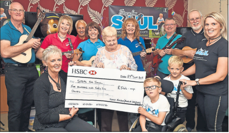 Sheltered housing residents all do their bit for six year old Saul