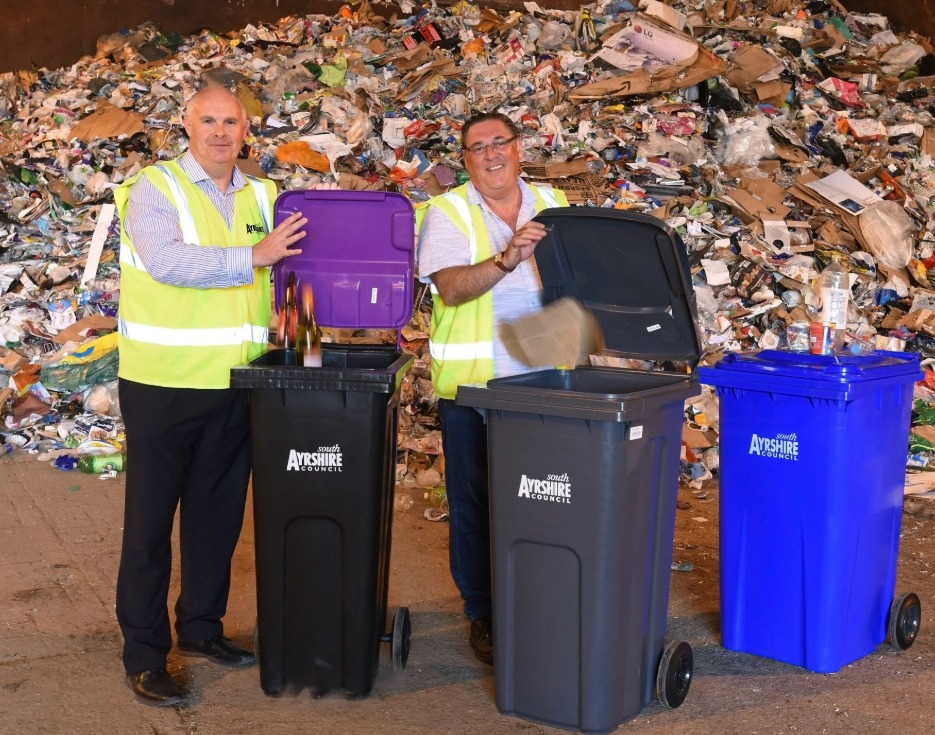 New bins will collect 'Paper, Card and Cardboard' and 'Glass Bottles and Jars'