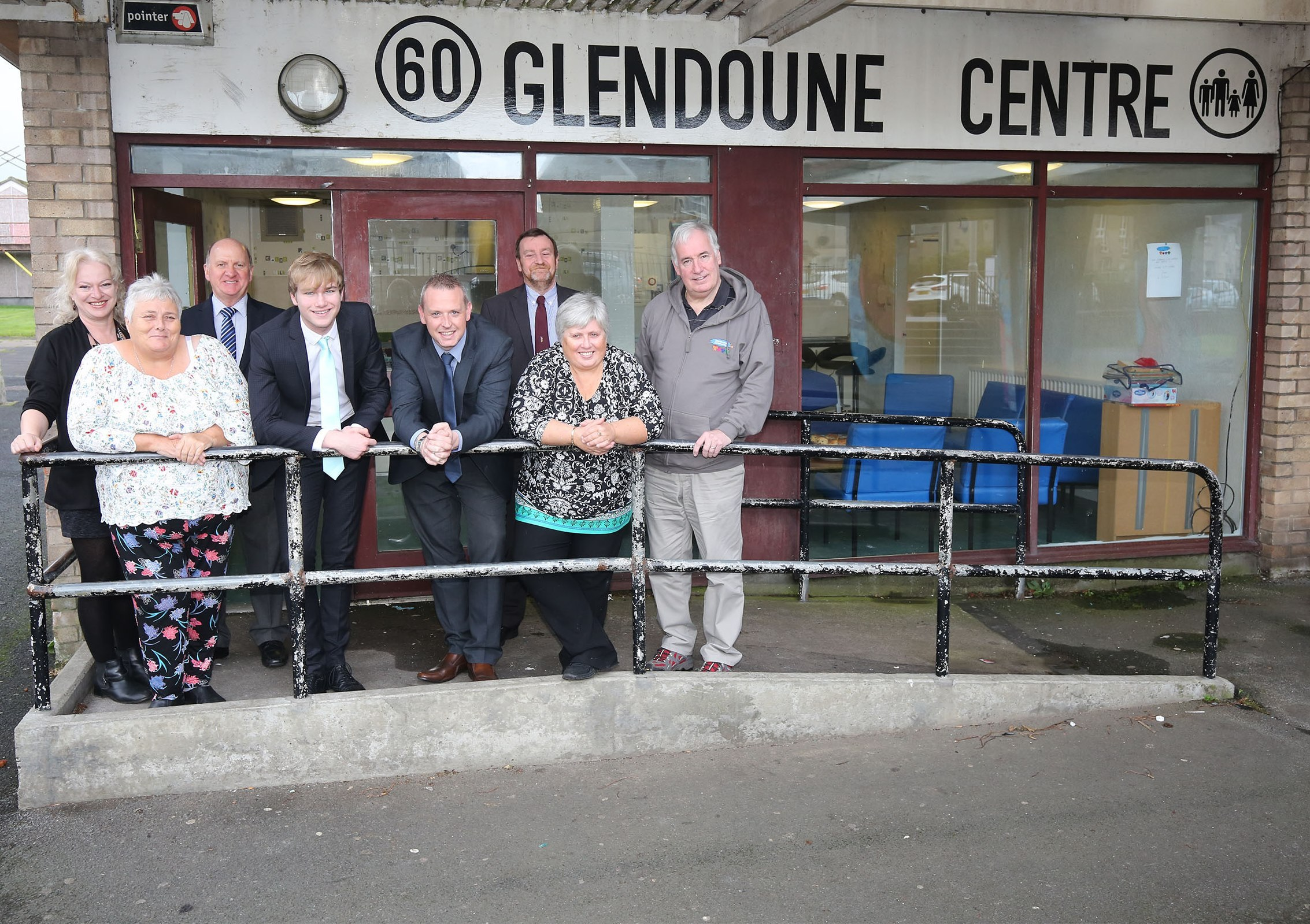 Ayrshire Company Rexel is donating £850 to Glendoune Community Association who are going to use the money to improve their community centre. This is through the Council's community benefit schemePhoto shows Councillor Alex Clark & Peter Henderson with