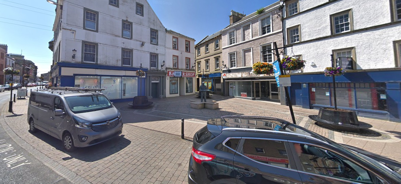 The two men were arrested on Ayr High Street