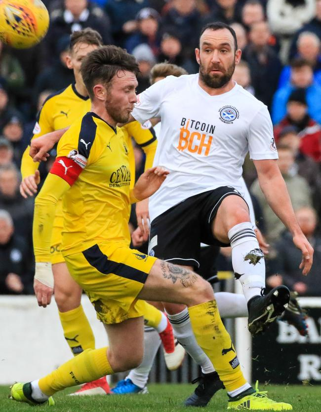 AGONISING DEFEAT: Ayr lost their unbeaten home record against Falkirk.