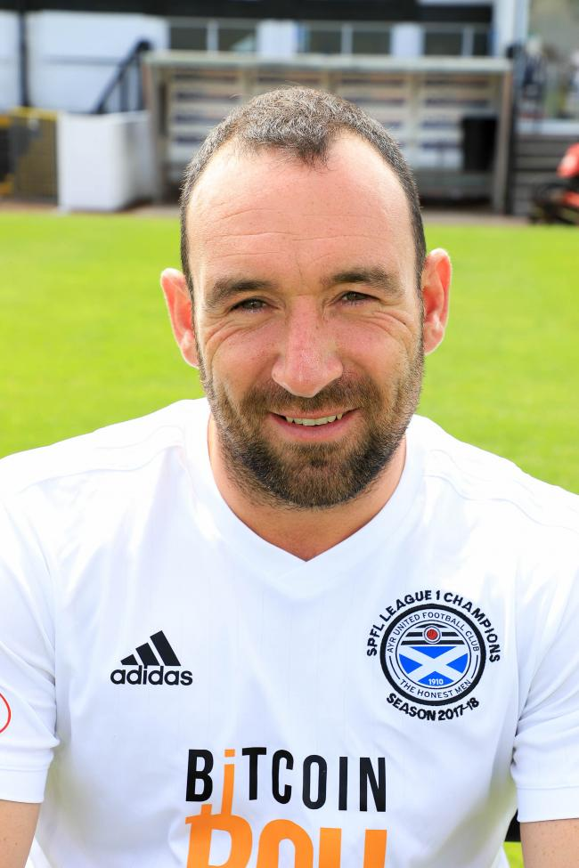 TOP PERFORMER: Michael Moffat was starman for Ayr.