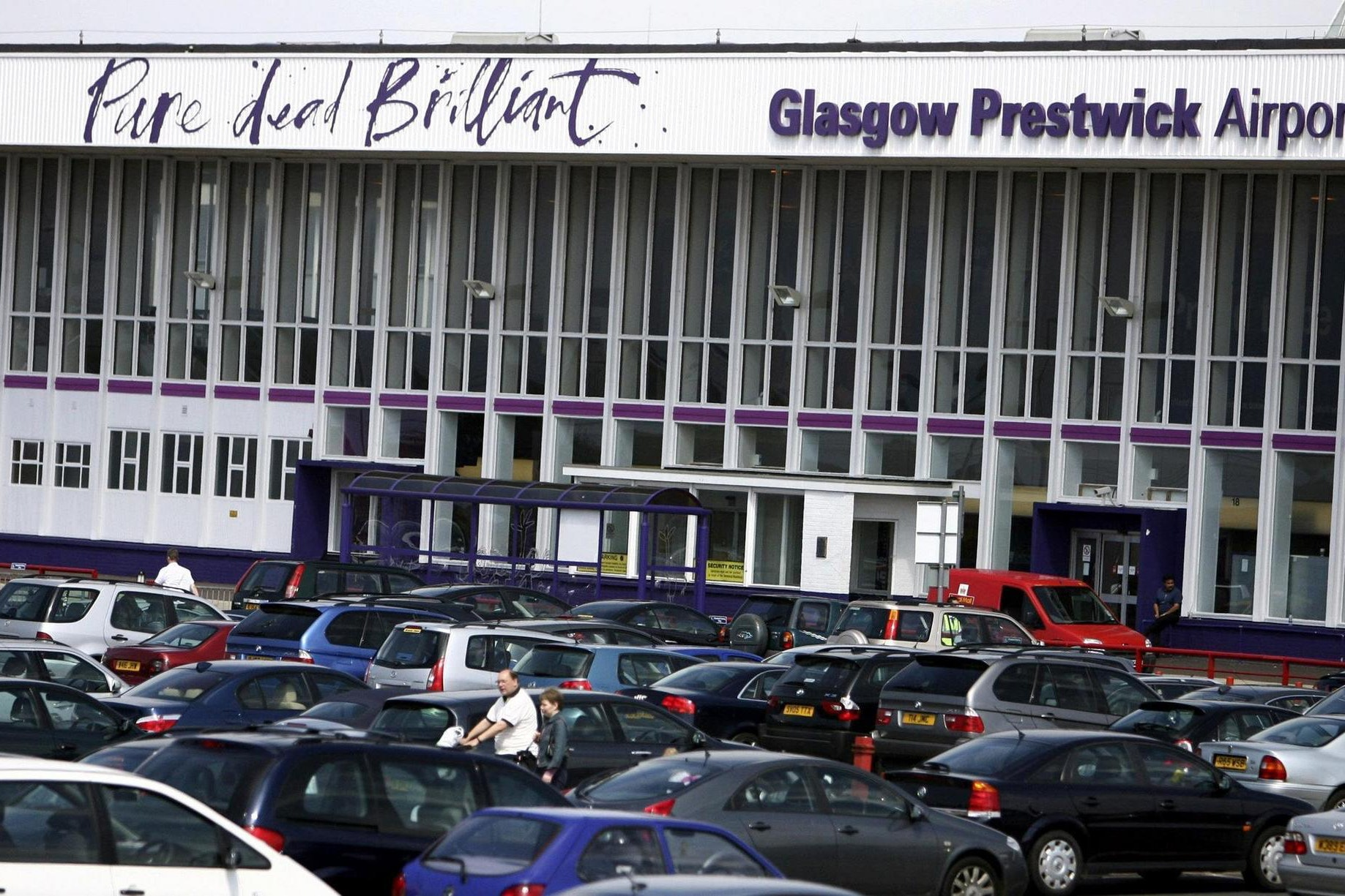 Man thrown off plane at Prestwick Airport for aggressive behaviour