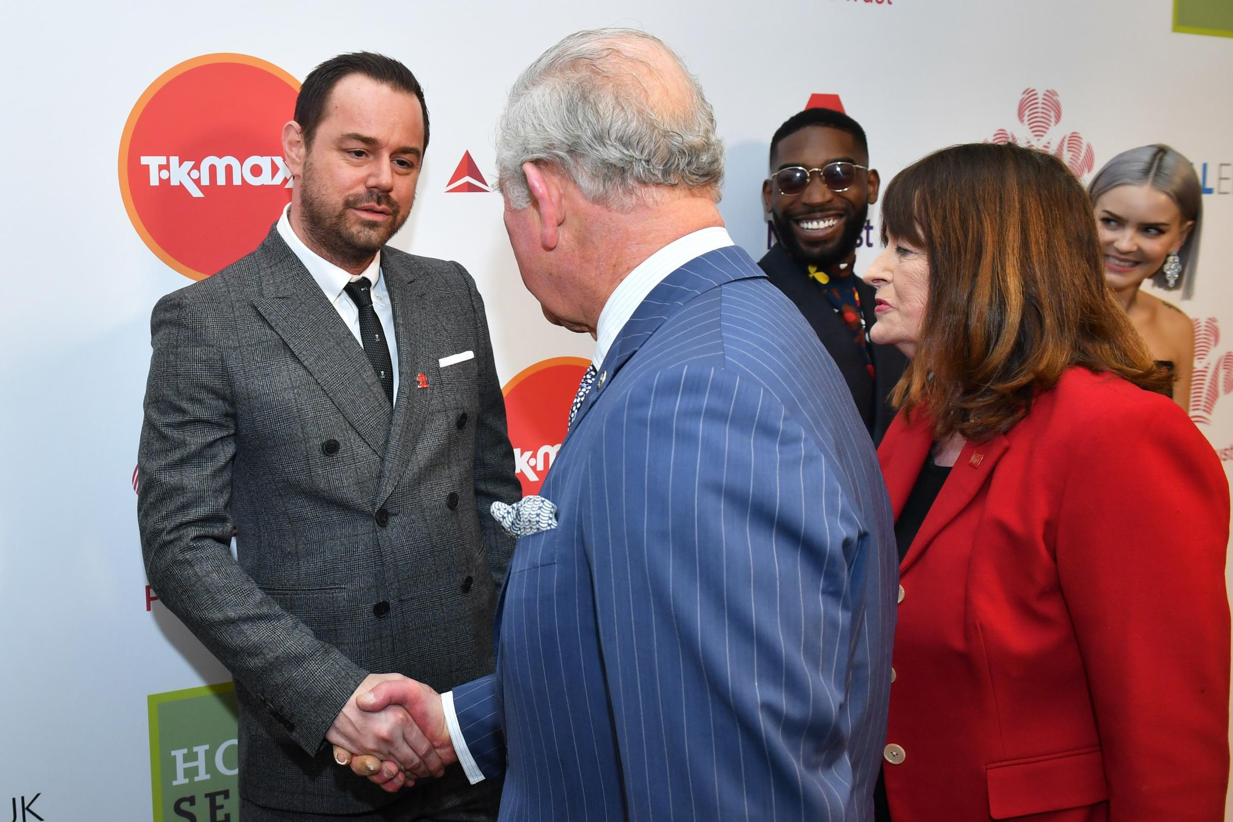 Danny Dyer met the Prince of Wales at the annual Prince's Trust Awards at the London Palladium