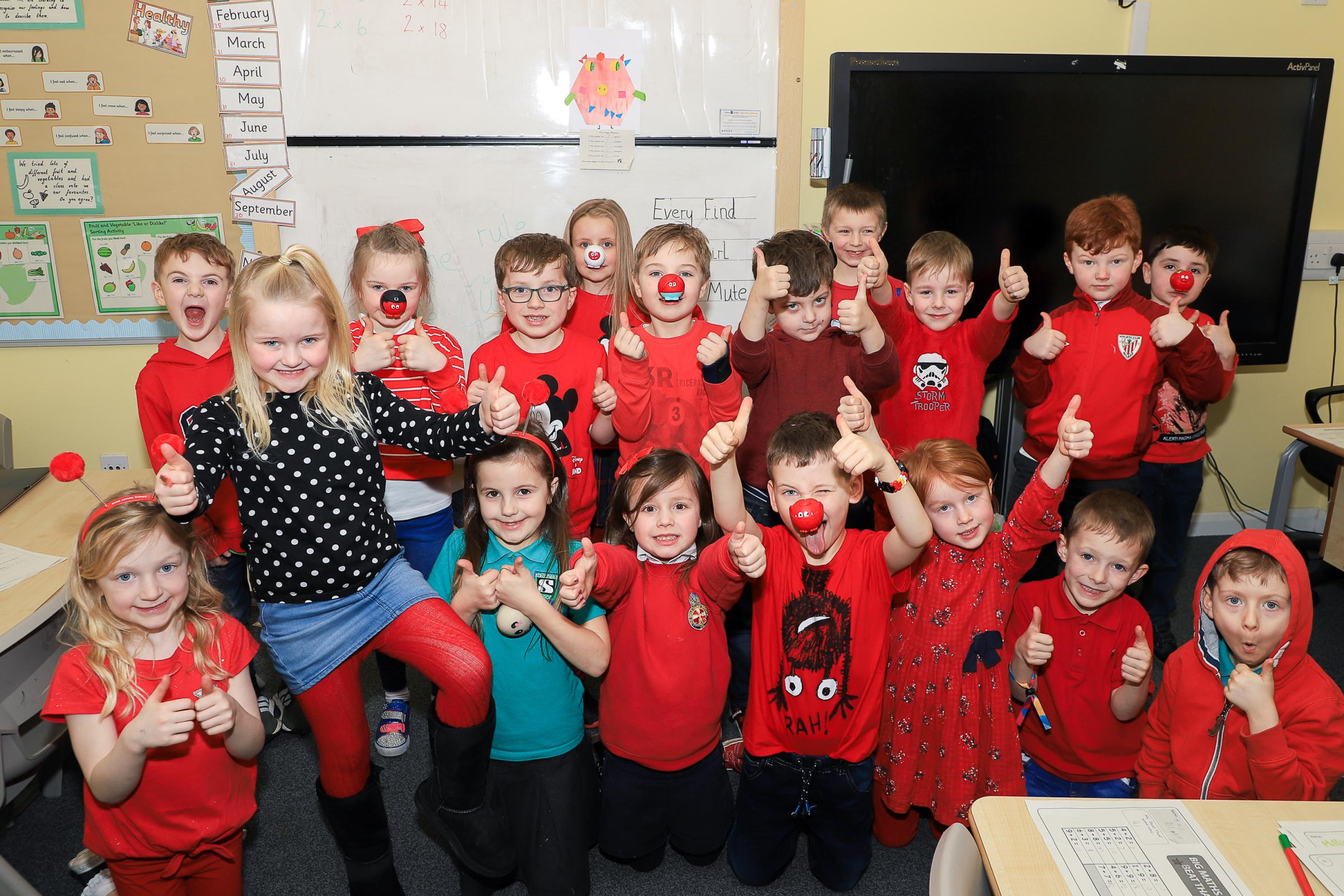 Struthers Primary pupils enjoy Red Nose day