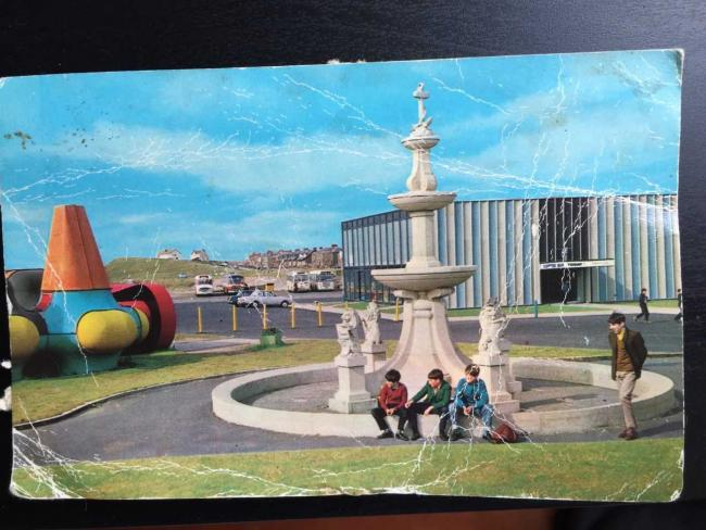 Dr Tim Edensor's 1969 postcard of Keith Albarn's Fifth Dimension in Girvan.
