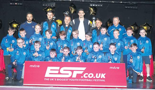 Kyle Lafferty gives awards to our young football stars
