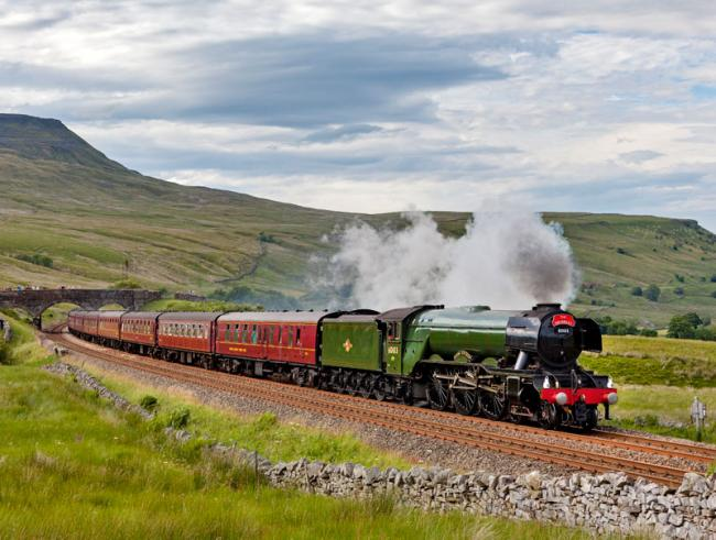 STEAMING IN: A train like this is headed for Troon and Prestwick today. Pic: The Railway Touring Company.