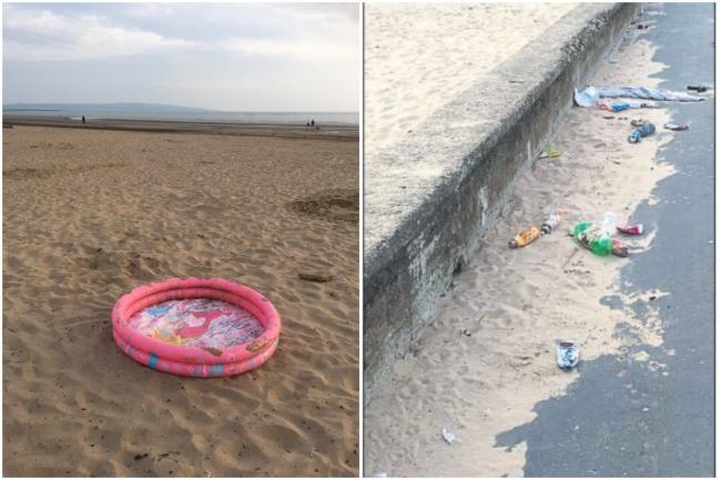 Beach clean-up team plead with visitors to clear up mess
