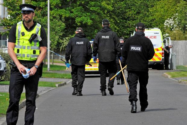Ayr Advertiser: Officers also searching nearby woods