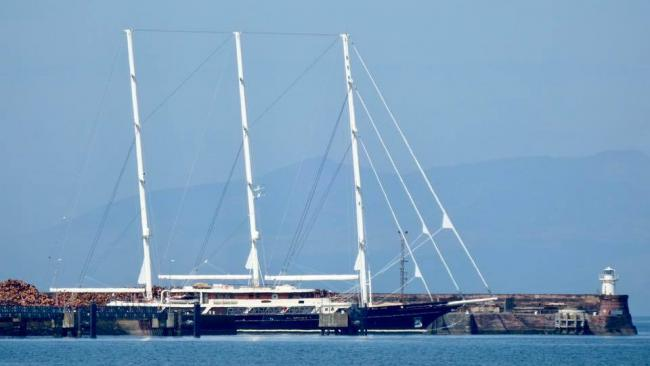 Super yacht worth 70 million docks in Troon Harbour
