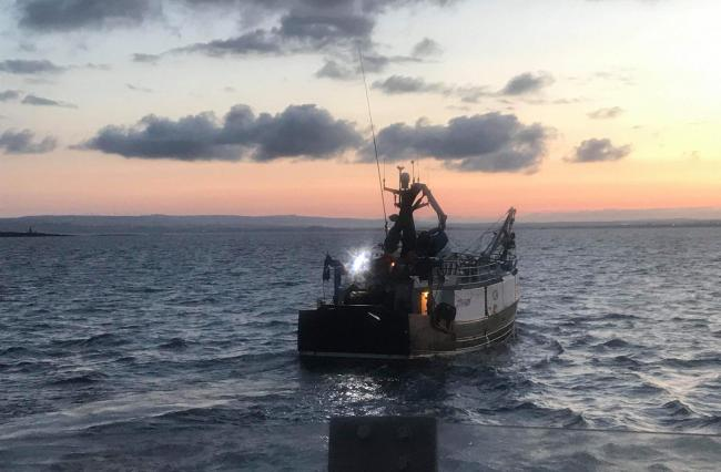 The fishing boat clashed with another vessel