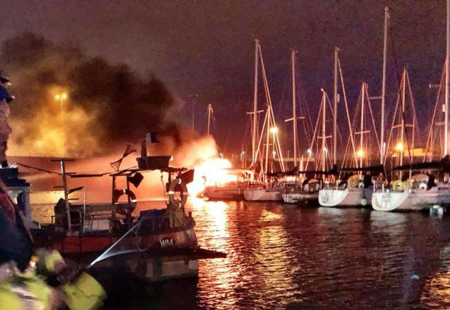 One person injured after boat fire in Troon